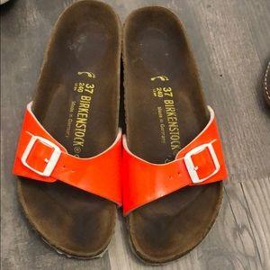 Birkenstock Madrid Slip On Sandal Neon Orange 37